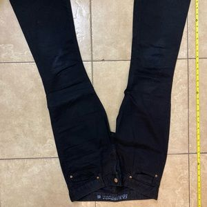 GUESS Size 29 Black Stretch Flare Pants